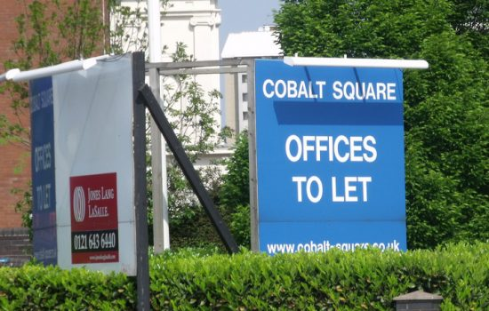 Offices to let - insolvency, closed for business, to let sign - photo courtesy of Elliot Brown