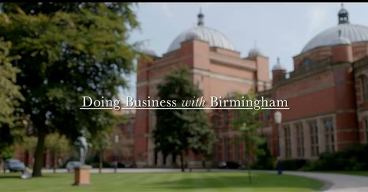 Doing Business with Birmingham University - video grab