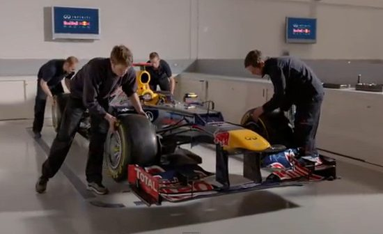 Red Bull Racing RB9 2013 F1 car - from video