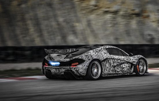 The McLaren P1 during development tests in 2012-2013.
