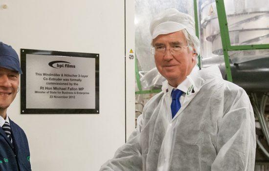 The Rt Hon Michael Fallon MP at the BPI Sevenoaks line.