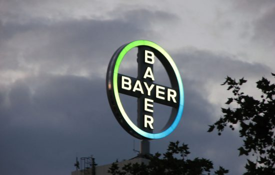 A sign at the Bayer pharmaceutical factory. Photo courtesy of Conanil