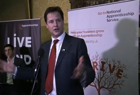 Nick Clegg meets apprentices - video still