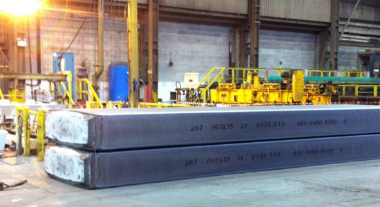 Large 26 tonne ingots produced at the Novelis UK can recycling plant in Chesire.