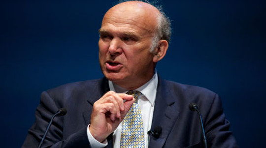 Vince Cable, Secretary of State for the Department for Business, Innovation and Skills.