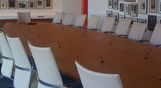 Board room table - image courtesy of Wiki Commons