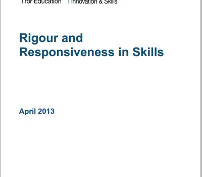 Rigour and Responsiveness in Skills report cover
