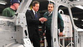 Prime Minister David Cameron visits Jaguar Land Rover's Solihull plant in December last year