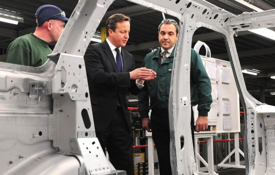 Prime Minister David Cameron visits Jaguar Land Rover's Solihull plant in December last year