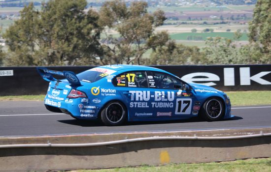 Ford Australia - A Ford Falcon race car driven by James Moffat and Alex Davison at the 2012 Bathurst 1000 V8 Supercars race - photo courtesy of Racin Jason.