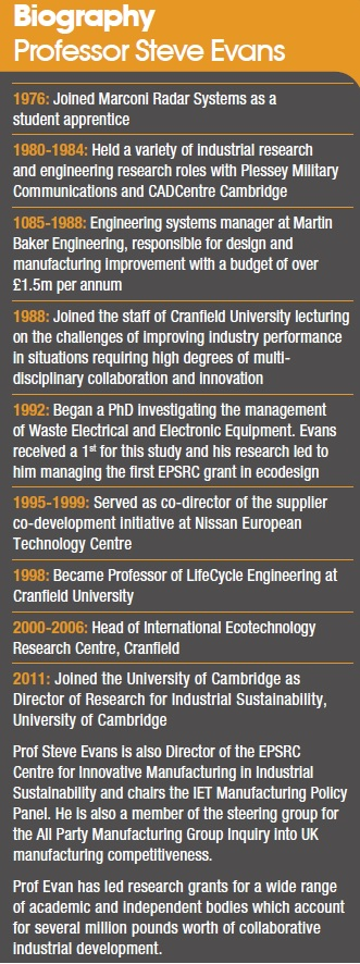 Prof. Steve Evans Biography