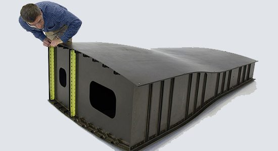 A GKN OOA Composite Processing Phase II wing box structure.