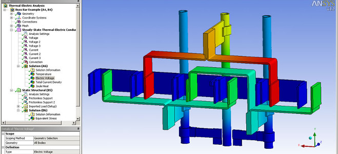 ANSYS Workbench thermoelectric analysis