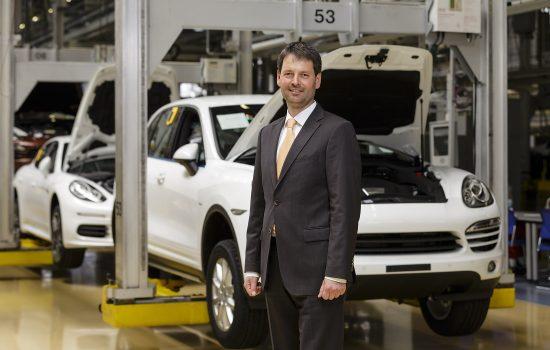 Porsche Leipzig head of logistics Michael Weihrauch