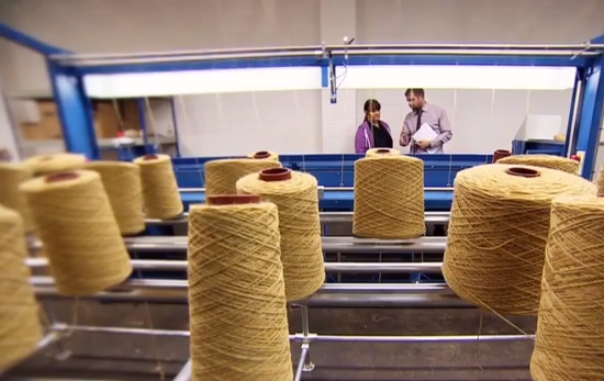 UK wool industry is spinning back into business according to CNN - video grab low res