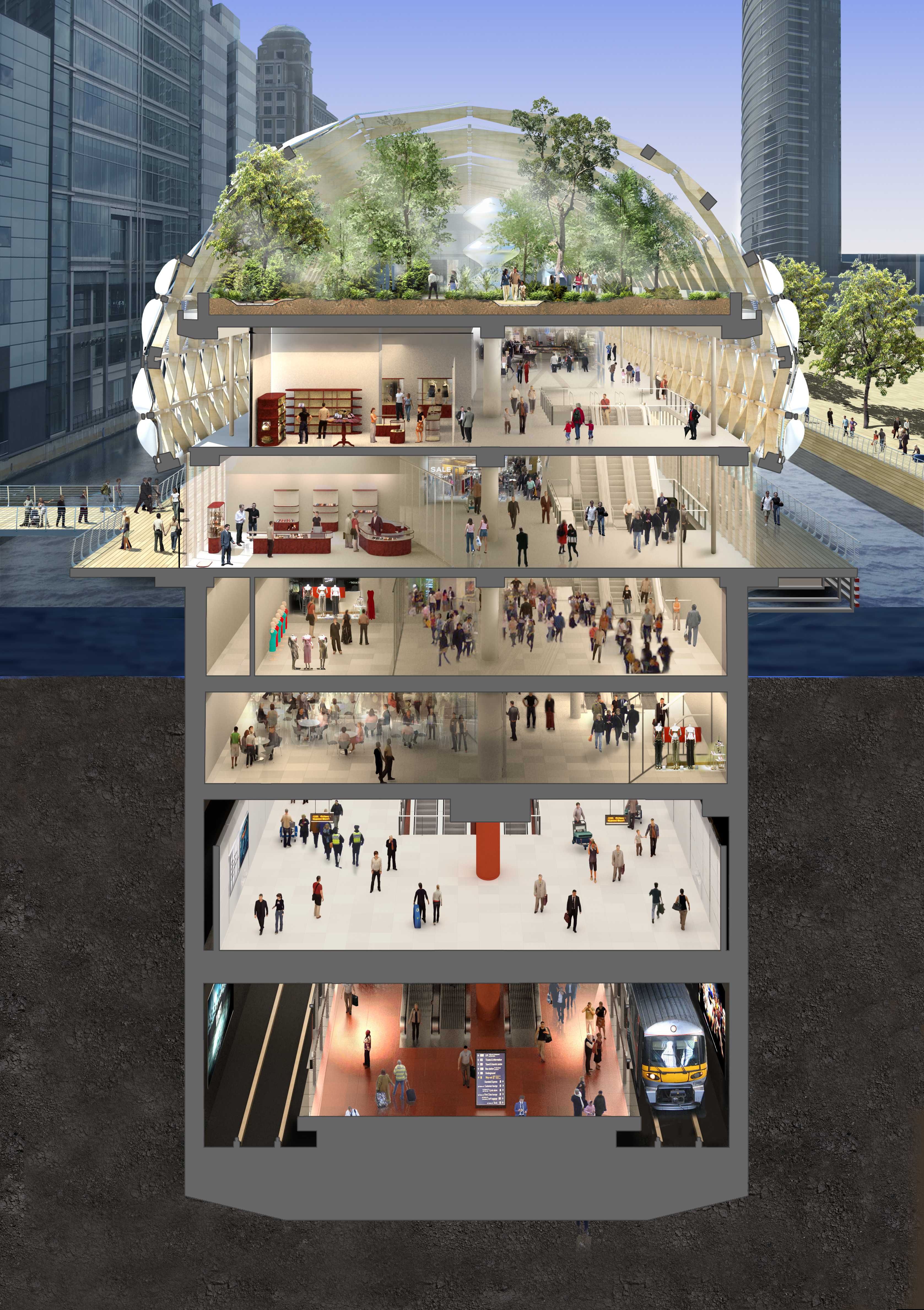 Canary Wharf Crossrail Station - Creating spaces, leading regeneration and boosting economy