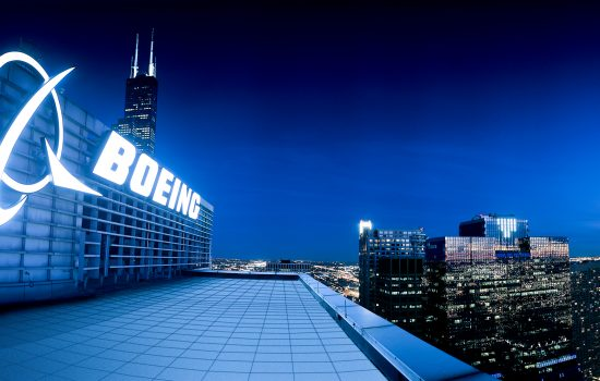 Headquartered in Chicago, Boeing employs more than 158,000 people across the United States and in 70 countries.