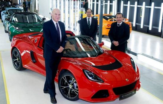 Secretary of State, Vince Cable at Lotus; Mr Aslam Farikullah Group Lotus plc Chief Operating Officer; Dato' Lukman Ibrahim, Deputy CEO of Proton