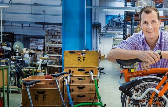 Founder and CEO of Brompton Bicycles, Will Butler-Adams OBE - image courtesy of BIS.