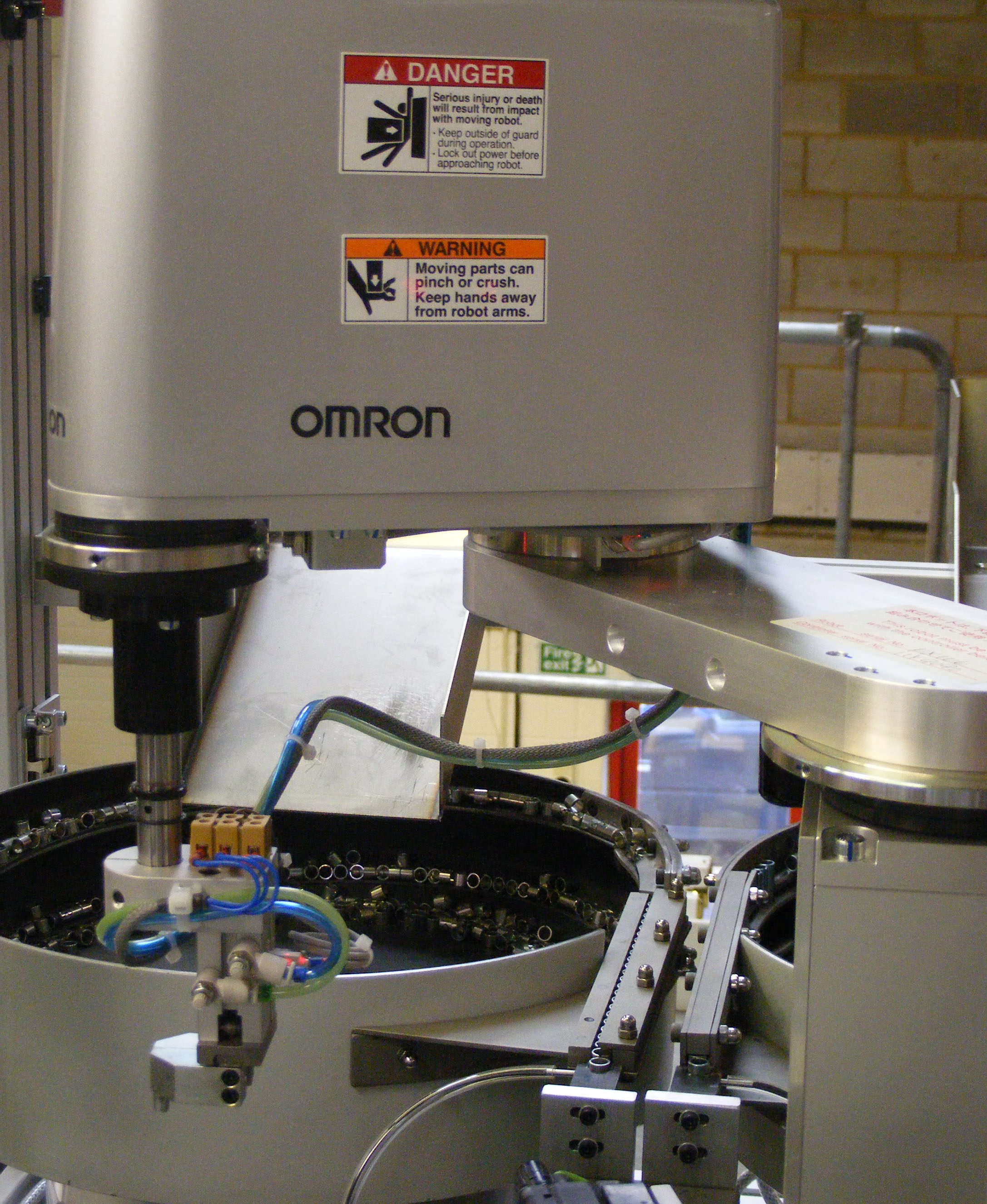 An automation solution based on the Omron SCARA robot
