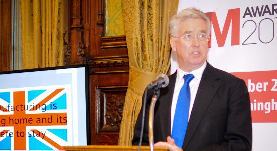 The Rt Hon Michael Fallon MP, Minister for Business and Enterprise and Minister of State for Energy, at the launch of The Manufacturer of the Year Awards 2014.