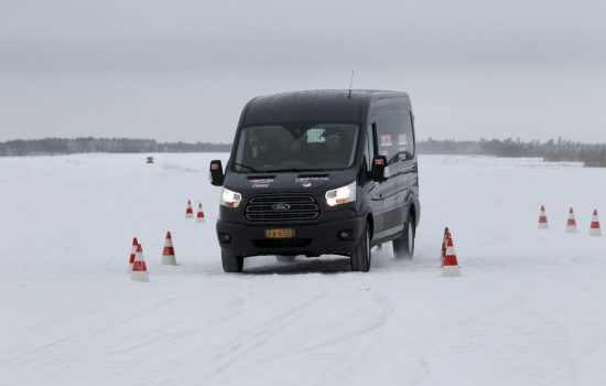 The Ford Transit takes on the 2014 Arctic Van Test - image courtesy of Ford