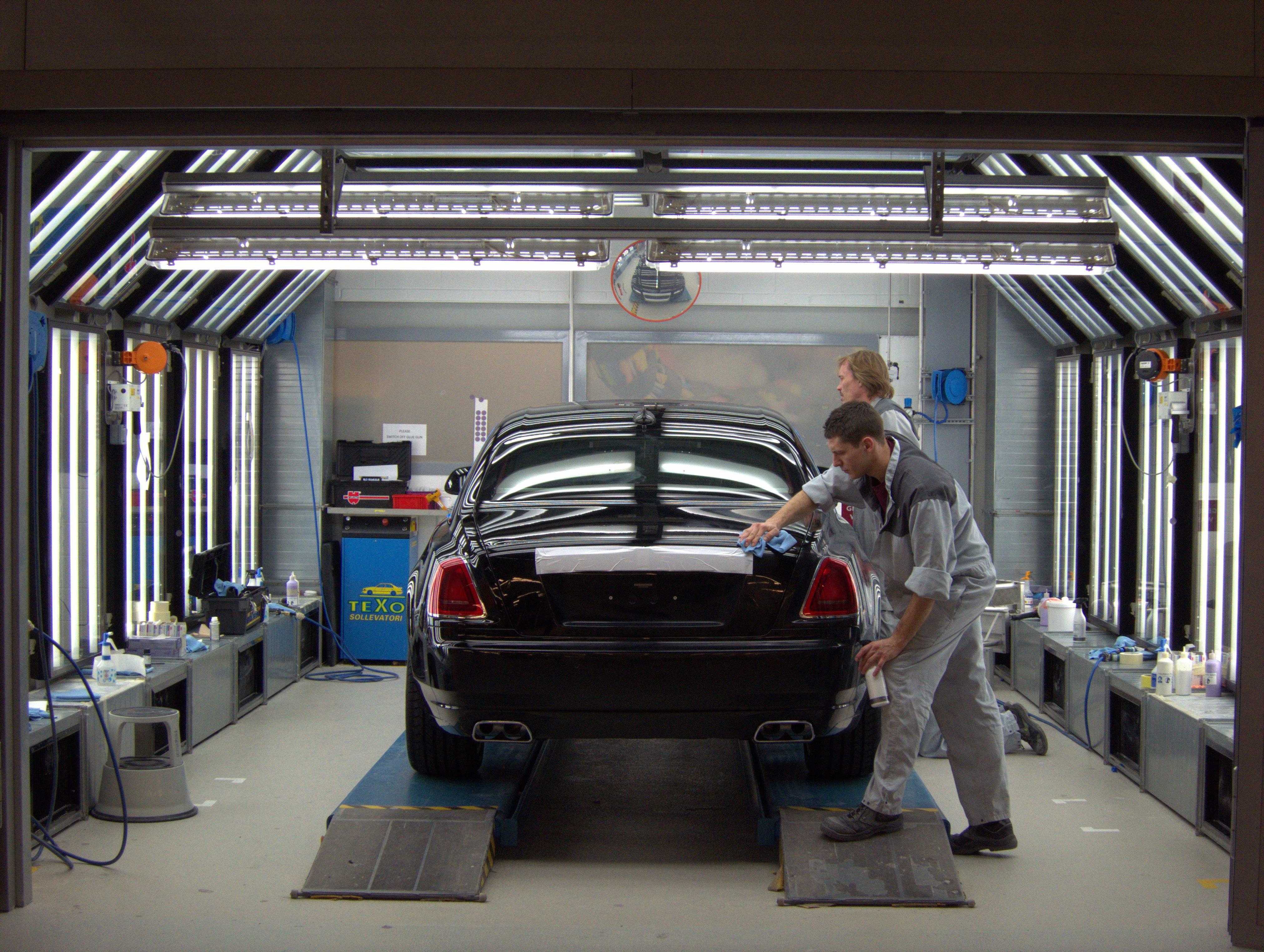 Inside the Rolls-Royce factory in Goodwood.