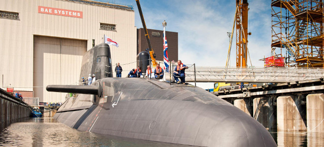 BAE Systems launches latest submarine