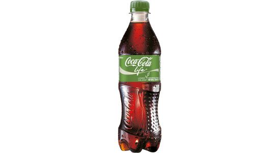 The Coca-Cola Life 500ml bottle.