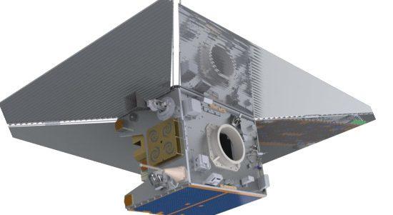 The TechDemoSat-1 satellite featuring its specialised de-Orbit sail.