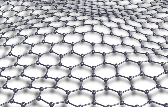 A close up of Graphene molecular mesh for making graphene products such as graphene coating.