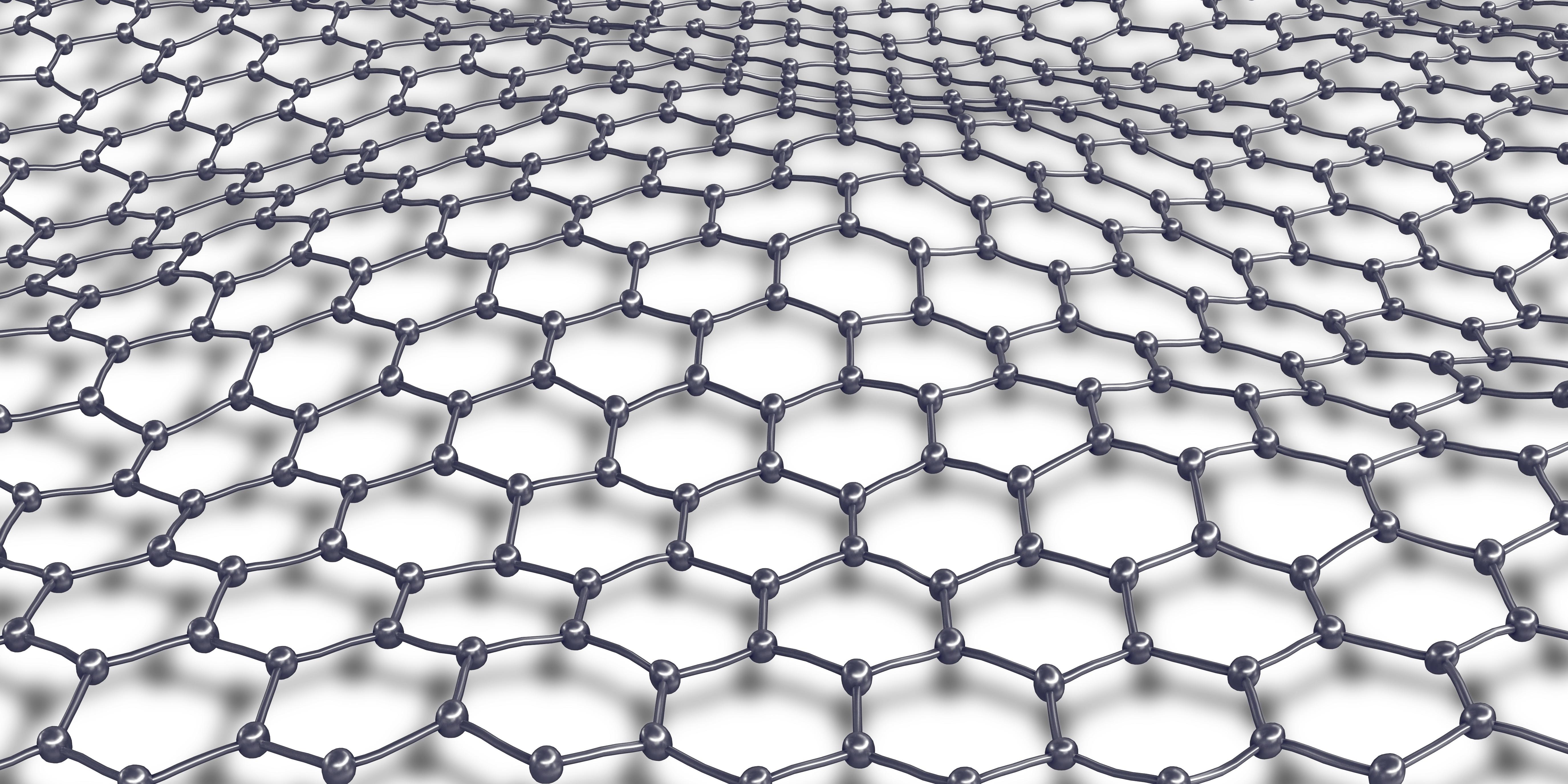 Graphene molecular mesh