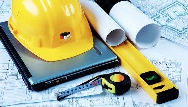 UK Construction Builders Stock Image