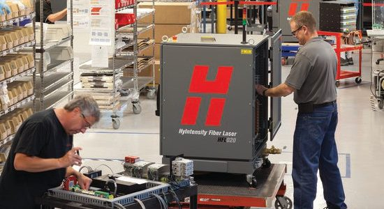 The Hypertherm Fiber Laser buildline has improved thanks to the upgraded labelling technology.