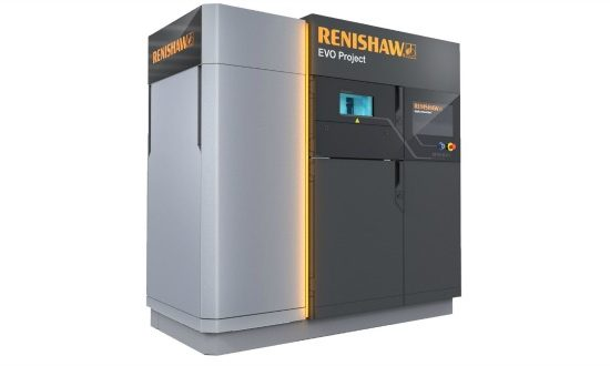 Renishaw's EVO Project machine is being developed for industrial additive manufacturing