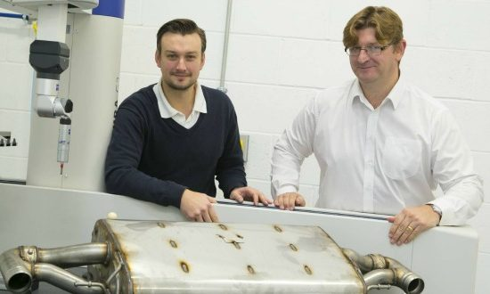 Image from left to right: James Simester, technology director (AME) and Marcus Henry, principal engineer (Unipart Eberspächer).