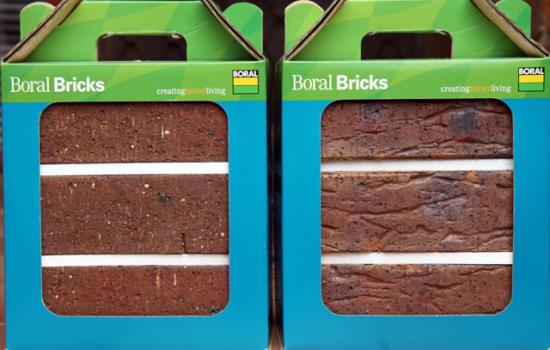 Boral Brick samples - image courtesy of Flickr Scott Lewis.