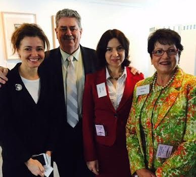Susi Tegen, Barry Thomas of Cook Medical, Helen Fisher and Anna Lavelle at the AIM Incentive presentation in Canberra