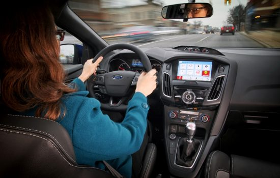 The Ford SYNC 3 system has been designed to keep the drivers eyes on the road and hands on the wheel, even when controlling their favorite phone apps.