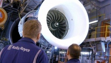The Rolls-Royce Trent 1000 engine which powers the Boeing 787 Dreamliner.