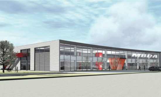 Artist's impression of MBDA's new site at Logistics North