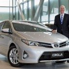 Toyota Australia executive director sales and marketing Tony Cramb with Australia's best-selling car of 2014, Toyota Corolla.