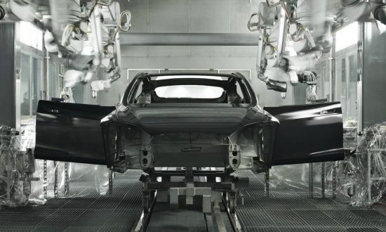 Tesla Model S in production at the companys California manufacturing facility (Image courtesy of Tesla)