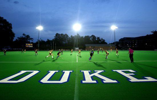 Williams Field at Jack Katz Stadium at Duke University showcasing play under LED lights from Ephesus. Image courtesy of Ephesus.