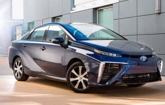 The Toyota Mirai hydrogen fuel cell vehicle. Image courtesy of Toyota.