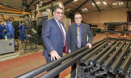 Councillor Tahir Ali takes a tour of the Thermotec Plastics site with managing director David Rose