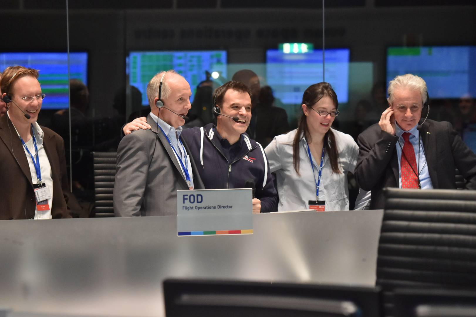 Cheers of excitement filled the Rosetta space mission's viewing platform.