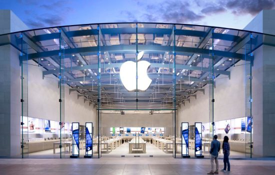 Apple claims to have created in excess of 1 million jobs since 2008. The Apple store in Santa Monica - image courtesy of Apple.