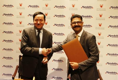 At official ceremony, Bahrain industry minister Dr Hassan Fakhro welcomed Mondelez International's second major investment in the country - image courtesy of Mondelez International.