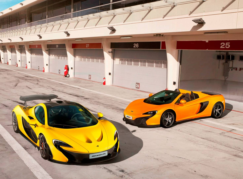 The McLaren P1 & 650S Spider - image courtesy of McLaren Automotive.